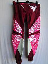 "Fly Racing KINETIC WOMENS LADIES motocross pants sz 9/10 or 36"" pnk/wht NEW"