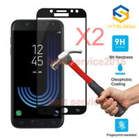 2Pcs Full Cover Tempered Glass Screen Protector For Samsung Galaxy J5 J7 Pro