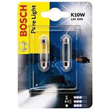Bosch 2 Stück Paar Glühbirnen Auto K10W 12v 10w pure Light 987301014 Auto neu