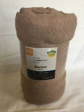 New Mainstays full/queen 90�x90� blanket soft touch brown 100% polyester
