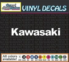 Kawasaki Motorcycle Vinyl Car Decal window sticker