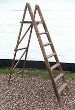 Vintage Pine 6ft Step Ladders - for stripping/painting/interior decor