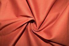 Burnt Orange Poplin #9 Cotton Lycra Spandex Stretch Woven Apparel Fabric BTY