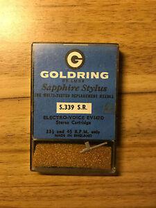 VINTAGE GOLDRING DE LUXE S.339 S.R. SAPPHIRE STYLUS FOR ELECTRO-VOICE EV147D