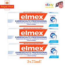 Elmex Classic toothpaste (Orange paste) 3x75ml! Professional Line! Againstcaries
