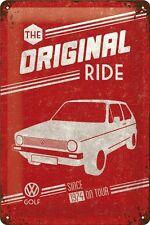 VW Volkswagen Golf original Ride Blechschild 3D geprägt Tin Sign 20 x 30 cm