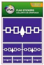IROQUOIS NATIVE FLAG COLLECTION OF 7 DIFFERENT SIZE DECAL STICKERS .. FIRST NATI