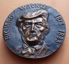 RARE MÉDAILLE RICHARD WAGNER VAISSEAU FANTÔME LOHENGRIN -ROCH 62 MM BRONZE MEDAL