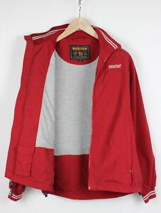 WOOLRICH Men's MEDIUM Full Zip Red Bomber Style Jacket 30366-JS