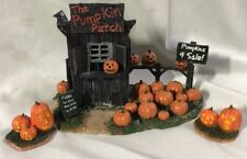 Lemax Spooky Town Halloween Accessory ~ The Pumpkin Patch (With Extra Pumpkins)