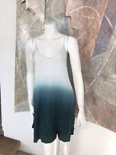 Brandy Melville Dip Dye White Blue Green Strappy Tank Slip Dress OS One Size