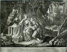 Johann Elias RIDINGER-la thörichte gelosia-MEZZOTINTO/schabkunst 1740