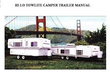 HI-LO 1990-2001 MOTORHOME MANUALs 430pg for Towlite RV 1999 2000 Service Repair