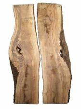 2x Oliven Holz Brett Olivenholz Baumscheibe 84x18/25cm 19mm