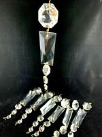 """20 Crystal prism chandelier lamp parts 2.5"""" rectangular colonial plus 4 Octagons"""