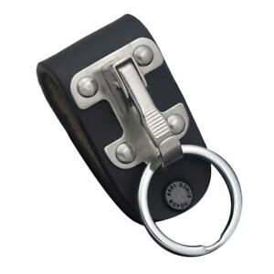 Quick Release Belt Clip Ring Holder Detachable Stainless Steel Leather Key chain