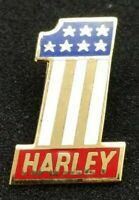 "VINTAGE HARLEY-DAVIDSON AMF USA #1 PIN AUTHENTIC HUGE 1 1/2"" TALL BY 1 INCH NEW"