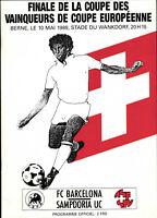 EC II - CWC Finale 88/89 FC Barcelona - Sampdoria Genua, 10.05.1989 in Bern