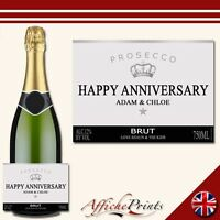 L6 Personalised Prosecco Brut Bottle Label Silver - Perfect Gift Any Occasion!