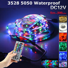5M 10M Waterproof LED Light Strip Single Colour & RGB 5050 3528 All Accessories