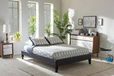 Baxton Studio Lancashire Full Fabric Upholstered Bed - Dark Grey