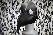 Real Leather Plague Doctor BLACK Mask Exclusive Gothic Steampunk Retro Rock