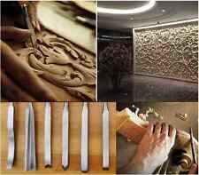 12Pcs Wood Carving Hand Chisel Tool Kit Set Wood Working Gouges+ Storage Roll UK