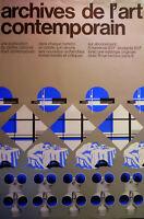 AFFICHE  Jean WIDMER - ARCHIVES DE L'ART CONTEMPORAIN - CNAC/ PARIS/ circa 1980