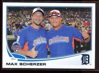 2013 Topps Update 193b Max Scherzer Blue Jersey SP Photo Variation Cabrera