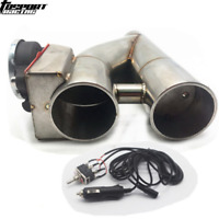 """Patented 2.5"""" Electric Exhaust Downpipe Cutout E-Cut Out Dual-Valve Manual Kit"""