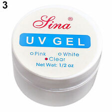 Nail Polish Clear White Pink Nail Art Primer Base UV Gel Top Coat Builder Tips
