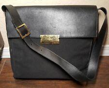 af34aa1c39 VINTAGE Salvatore Ferragamo Leather and canvas Flap over purse  shoulder bag