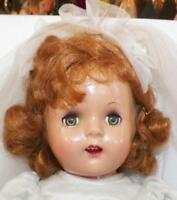 Princess Elizabeth Composition Doll 15in Sleep Eyes Bridal Gown Unmarked Vintage