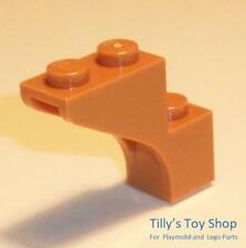 Lego - Eight 1x3x2 Brick With Bow / Half Arch - Medium Nougat - ID 88292 - NEW