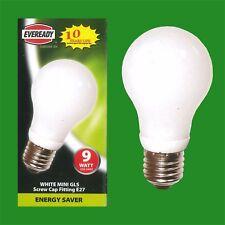 25 x 9w bajo consumo energético Mini GLS CFL 3500K bombilla blanca, ES E27