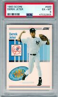 "1993 Score #489 "" Derek Jeter "" PSA 6 RC {HOF 2020 99.7%}  Yankees ""The Captain"""