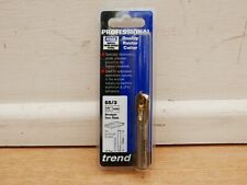 "TREND 55/3 12.7MM HSSE STRAIGHT FLUTE ROUTER CUTTER 3/8"" SHANK"