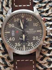 Glycine GL0359 Airpilot Herren Uhr Chronograph ungetragen!