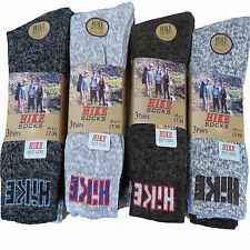12 PAIRS MENS THERMAL SOCKS WALKING COTTON THICK HIKE CHUNKY BOOTS WORK NEW