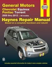 Chevrolet Equinox 2005 thru 2012 and Pontiac Torrent 2006 thru 2009