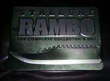 Rambo: The Complete Collector's Set (DVD, 6-Disc Set) Steel Book Metal Case