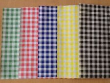 More details for quality gingham duplex paper food wrap greaseproof chip basket liners 250x375mm