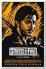STREETS OF FIRE - 1984 orig 27x41 movie poster- RARE Orange Advance MICHAEL PARE