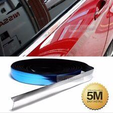 Flexible Chrome Edge Trim Molding Accessory Garnish Silver 5meter For TOYOTA