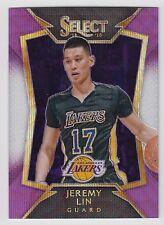 JEREMY LIN 2014-15 Panini Select Concourse Purple White Prizm #36 Lakers