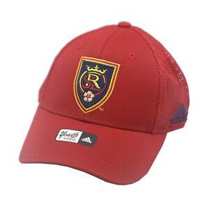 Real Salt Lake Official MLS Adidas Children's Youth Boys (8-20) OSFM Hat Cap New