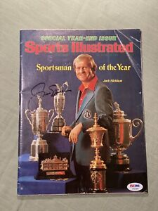 Jack Nicklaus Autographed Sports Illustrated Magazine W/ PSA