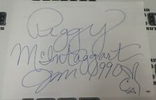 Peggy McIntaggart Signed 18x24 Hand Drawn Playboy Bunny Head Sketch PSA/DNA COA