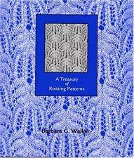 A Treasury of Knitting Patterns, Walker, Barbara G., Good Book