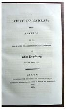 1821  INDIAN CUSTOMS - MADRAS - Mount Sinai - Cairo